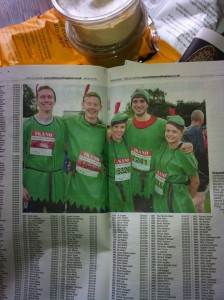 After completing the Robin Hood half marathon